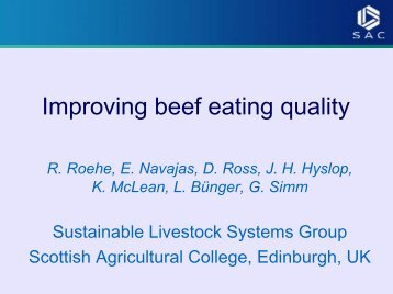 Improving Beef Eating Quality [853K] - knowledgescotland