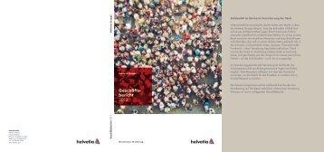 Geschäfts- bericht 2012 - Schweizer Geschäftsberichte-Rating