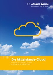 Broschüre A4 CloudServices + CloudLounge - Lufthansa Systems AG