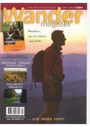 Wandermagazin April 2001 - Dolomiten Alpin