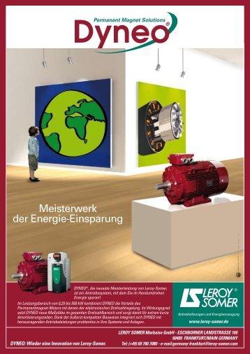 Meisterwerk der Energie-Einsparung - Leroy-Somer DYNEO