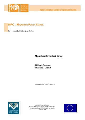 Migration after the Arab Spring - Migration Policy Centre