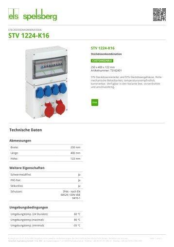 STV 1224-K16 - Steckdosenkombination (73162401) - Spelsberg