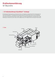 Profilschienenführung Q1 Baureihe - CNC LAND