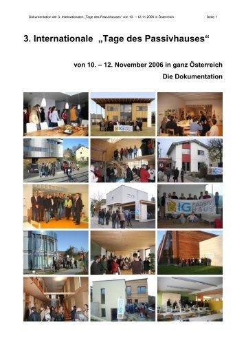 Dokumentation - Tage des Passivhauses 2006.pdf - Lang Consulting
