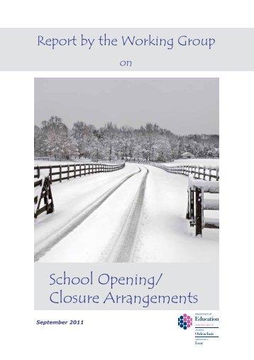 School Opening/ Closure Arrangements - Belfast Education ...