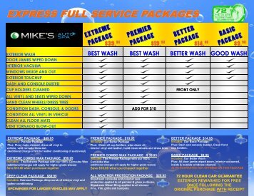 EXPRESS FULL SERVICE PACKAGES