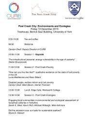 Environments and Ecologies (PDF , 104kb) - University of York