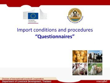 Import Conditions and Procedures