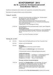 schützenfest 2013 - Georg Humpert neuer König der St. Lambertus ...