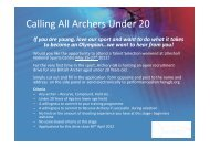Calling All Archers Under 20 - Cheshire Archery Association