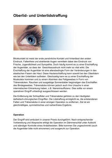 Oberlid- und Unterlidstraffung - Dr. Dr. Lange & Weyel