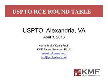 Kenneth M. Fagin, KMF Patent Services, PLLC - United States ...
