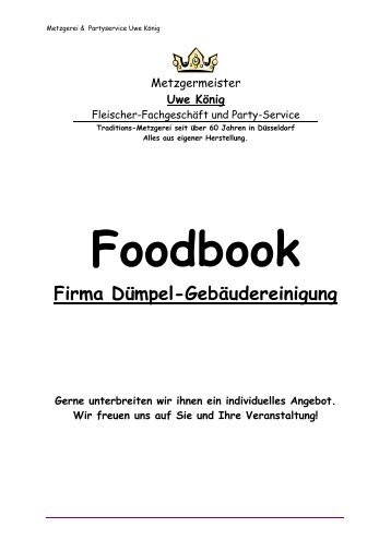Catering Angebot