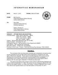 interoffice memorandum - San Bernardino County District Attorney