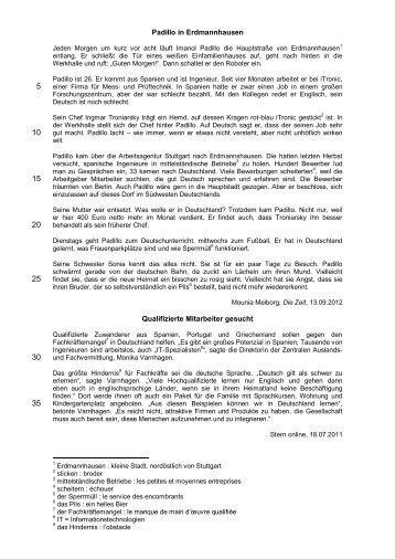 Padillo in Erdmannhausen Qualifizierte Mitarbeiter gesucht