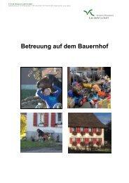 Betreuung auf dem Bauernhof - Verband Thurgauer Landwirtschaft