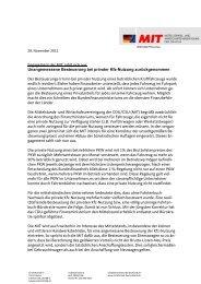 Unangemessene Besteuerung bei privater Kfz ... - MIT Darmstadt