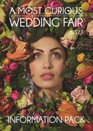 Exhibitor Info Pack - A Most Curious Wedding Fair