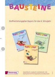 Stoffverteilungsplan Bayern für das 4. Schuljahr