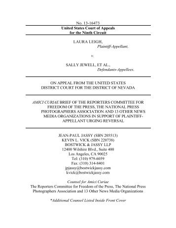 legal brief - NPPA Blogs - National Press Photographers Association