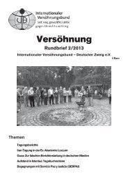 Rundbrief 2/2013 - Internationaler Versöhnungsbund