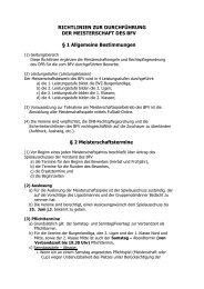 Richtlinien zur Durchführung der Meisterschaft ... - Burgenländische