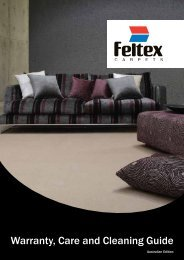 Download the Warranty, Care and Cleaning Guide - Feltex Carpets