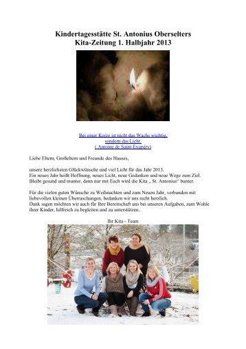 Kita-Zeitung 1 - 2013 - Kindertagesstätte St. Antonius - Bad Camberg