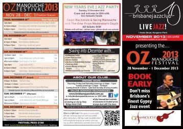 oz manouche festival - Brisbane Jazz Club