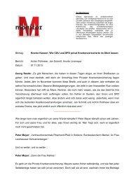 Beitrag: Kranke Kassen: Wie CDU und SPD privat ... - WDR