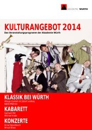 Kulturangebot 2014 Layout_CorelDraw - Würth