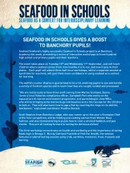 SEAFOOD IN SCHOOLS GIVES A BOOST TO BANCHORY PUPILS!