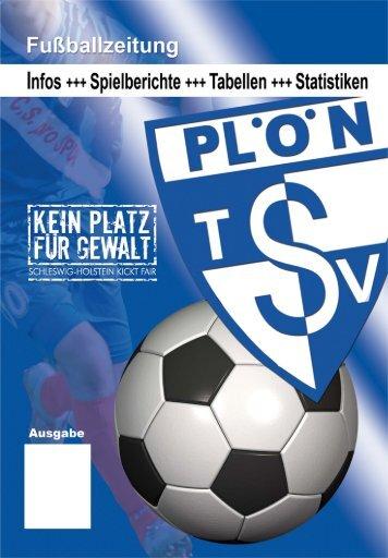 Stadionzeitung - TSV Plön