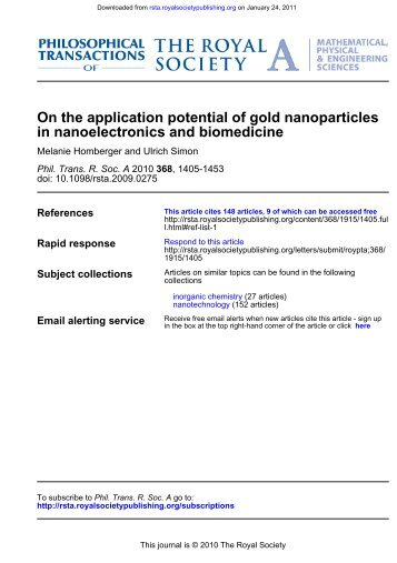 Au nanoparticles in electronics and bio
