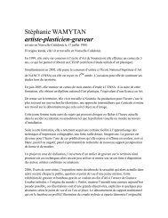 Stéphanie WAMYTAN artiste-plasticien-graveur - Le Petit Jaunais