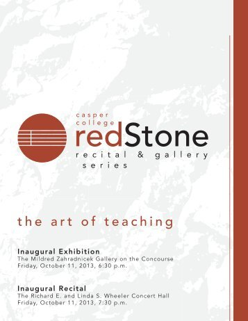 The Art of Teaching October 11, 2013 - Casper College