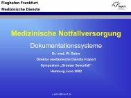 Flughafen Frankfurt Medizinische Dienste - EAGOSH!