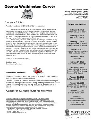 George Washington Carver   Waterloo Community School District  George Washington Resume