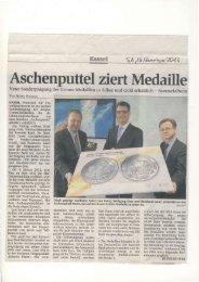 Aschenputtel ziert Medaille - Brüder Grimm Museum