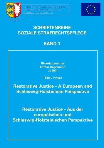 Schriftenreihe Soziale Strafrechtspflege Band 1 - CEP, the ...