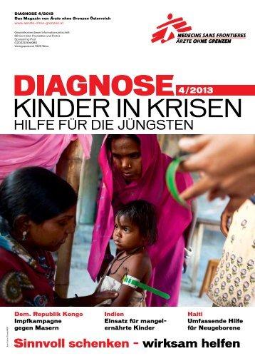 diagnose-2013-4-MSF-AT - Ärzte ohne Grenzen