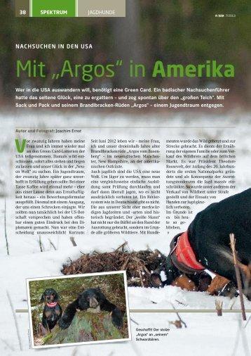 """Mit """"Argos"""" in Amerika"""