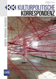 Ausgabe 1337 als PDF zum Download - Kulturportal West Ost