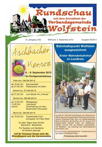 KW 36 - Verbandsgemeinde Wolfstein