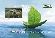 Kläranlagen l Sewage plants - M-U-T Maschinen Umwelttechnik