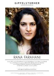 Rana FaRahani - Schauspielagentur Gipfelstürmer