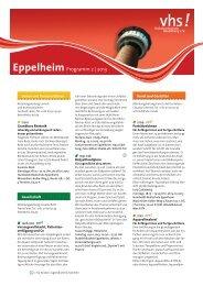 vhs Programm - Eppelheim - Volkshochschule Heidelberg