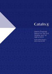 Interim Financial Report for the 2nd Quarter and 1st Half ... - Catalis SE