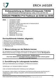 Einbauanleitung zu Elektro-Einbausatz 736352 NISSAN ... - Rameder